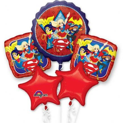 DC Girl Helium Balloon Bouquet